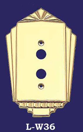 Art Deco Push Button Single Switch Plate (L-W36)