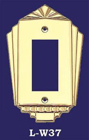 Art Deco Style GFI Outlet or Modern Rocker Switch Plate Cover (L-W37)