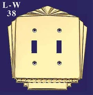 Art Deco Style Double Electric Switch Plate (L-W38)