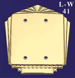 Art Deco Style Double Switch Plate Blank (L-W41)