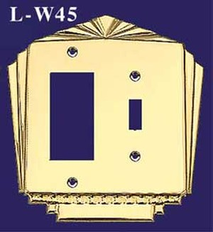 Art Deco Style GFI & Switch Plate Cover (L-W45)