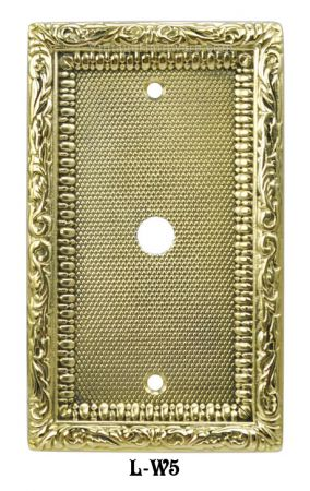 Victorian Decorative Coaxial Cable Jack or Telephone Cord Cover Plate (L-W5)