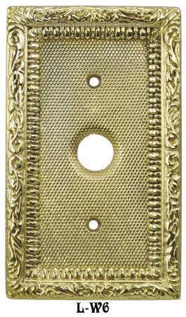 Victorian Decorative Single Push Button Switch Plate Cover (L-W6)