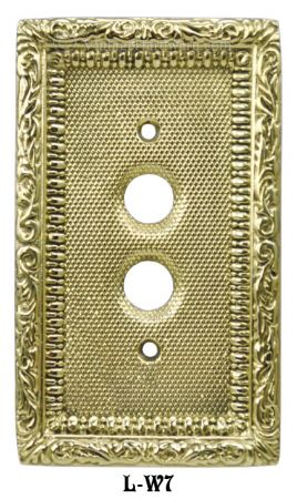 Victorian Single Gang Decorative Push Button Switch Plate Cover (L-W7)