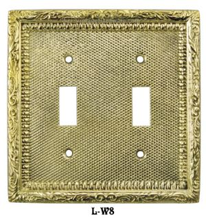 Victorian Decorative Double Toggle Light Switch Plate Cover (L-W8)