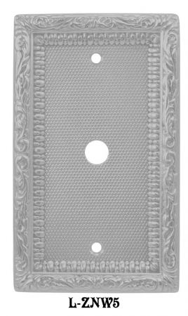 Victorian-Decorative-Coaxial-Cable-Jack-or-Telephone-Cord-Cover-Plate-(L-W5)