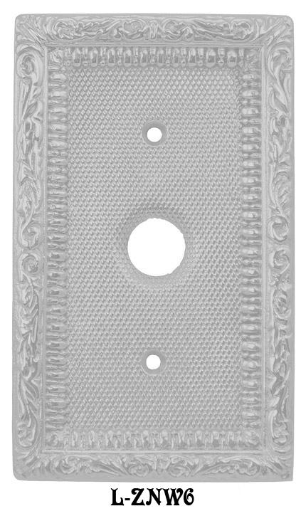 Victorian Decorative Single Push Button Switch Plate Cover