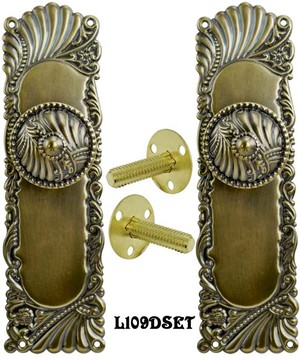 Victorian Corbin Roanoke Door Plate Dummy Handle Set (L109DSET)