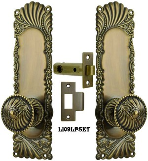 Victorian Corbin Roanoke Passage Door Plate set (L109LPSET)