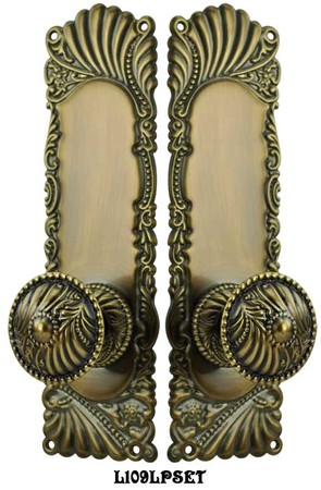 Victorian-Corbin-Roanoke-Passage-Door-Plate-set-(L109LPSET)