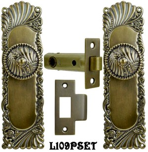 Victorian Corbin Roanoke Passage Door Plate Set (L109PSET)
