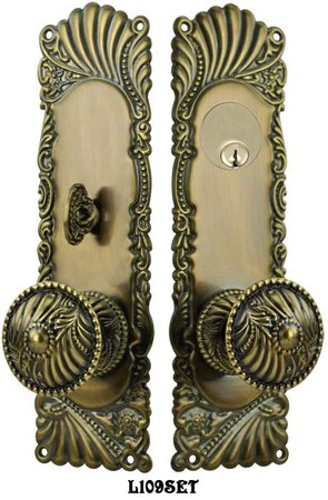Victorian-Corbin-Roanoke-Entry-Door-Plate-Set-(L109SET)