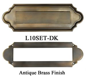 Plain Letter Slot Set for Mail (L10SET)  sc 1 st  Vintage Hardware u0026 Lighting & Vintage Hardware u0026 Lighting - Antique and Vintage Mailboxes Mail ...