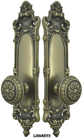 Victorian-Rococo-Yale-Pattern-with-Gothic-Knob-Dummy-set-(L15DSET2)