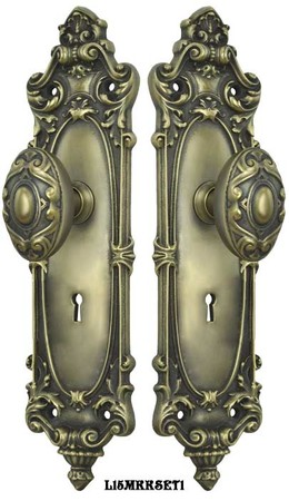 Victorian-Rococo-Yale-Pattern-Door-Set-with-Locking-Keyed-Mortise-(L15MKKSET1)