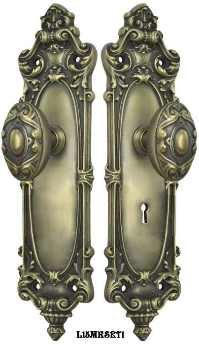 Vintage hardware lighting victorian rococo yale - Interior door privacy mortise lock ...