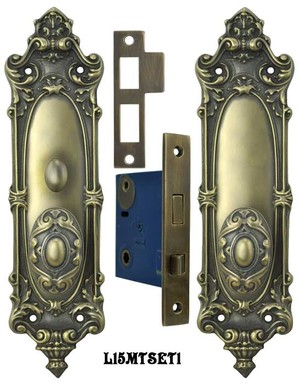 Victorian Rococo Yale Pattern Set with Turnlatch Mortise (L15MTSET1)