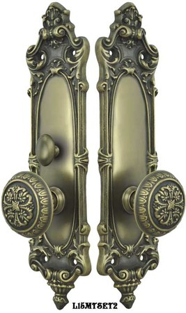 Victorian-Rococo-Yale-Pattern-with-Gothic-Knob-Set-with-Turnlatch-Mortise-(L15MTSET2)