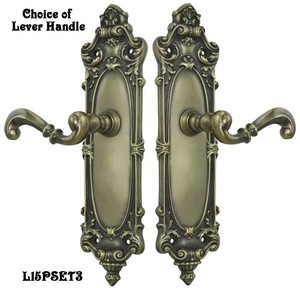 Victorian-Rococo-Yale-Pattern-with-Lever-Handle-Interior-Passage-Set-(L15PSET3)
