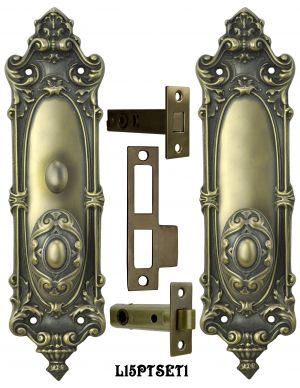 Victorian Rococo Yale Pattern Set with Locking Turnlatch (L15PTSET1)