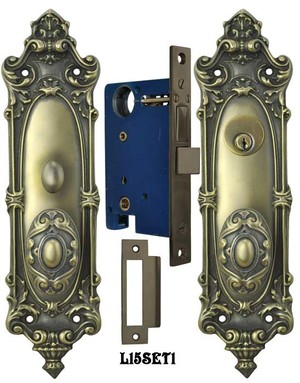 Victorian Rococo Yale Pattern Entry Door Set (L15SET1)