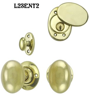 Contemporary Solid Brass Plain Door Plate Entry set (L23ENT2)