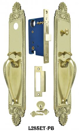Victorian-Scallop-Design-Single-Entry-Door-Set-(L28SET)