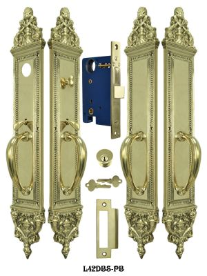 Victorian Large Double Entry Door Set (L42DBS-PB)