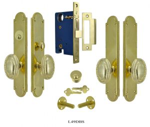 Modern Beaded Edge Double Door Entry Set  (L49DBS)