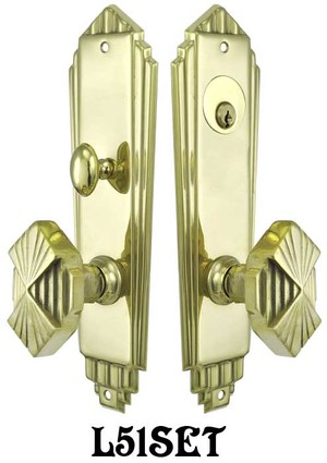 Art-Deco-Door-Plate-Entry-Mortise-Set-(L51SET)