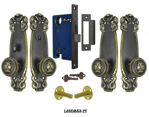 Art Nouveau 2 Tone Double Door Entry Set (L63DBS3)