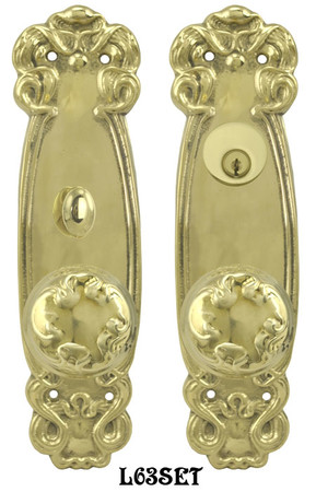 Art-Nouveau-Door-Plate-Entry-set-(L63SET)