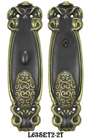 Art Nouveau Door Plate Entry Set (L63SET2)