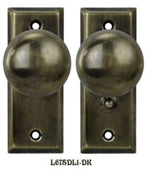 Recreated Complete Victorian Screen Door Latch Set Knob to Knob (L67SDL1)