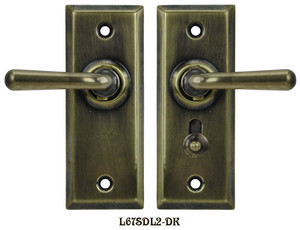 Recreated Complete Victorian Screen Door Latch Set Lever to Lever (L67SDL2)