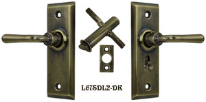 Recreated-Complete-Victorian-Screen-Door-Latch-Set-Lever-to-Lever(L67SDL2)