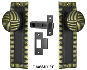 Art-Deco-Passage-Door-Set-Two-Tone-Finish-(L73PSET-2T)
