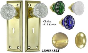Contemporary Solid Brass Door Plate Mortise Lockset (L80MKKSET)