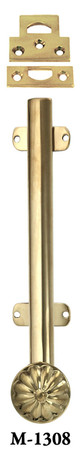 "French Door Bolt - 8"" Long Surface Bolt With Catches - Choice Of Finish (M-1308)"