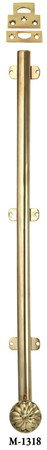 "French Door Bolt - 18"" Long Surface Bolt W/ Catches - Choice Of Finish (M-1318)"