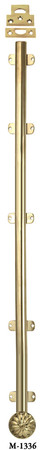"French Door Bolt - 36"" Long Surface Bolt W/ Catches - (M-1336)"