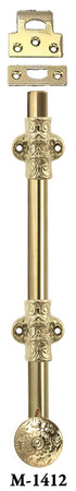 "French Door Bolt - 12"" Long Door Bolt With Catches (M-1412)"