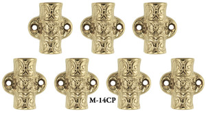 Set Of 7 Decorative Floral Cremone Bolt Covers (M-14CP)