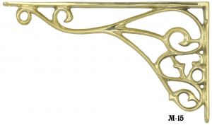 Victorian Cast Brass Shelf Bracket (M-15)