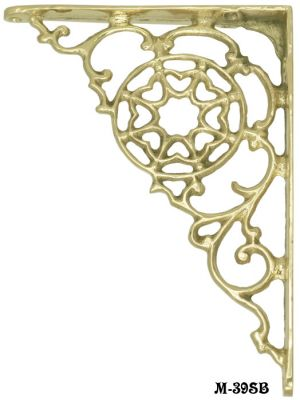 "Cast Brass Shelf Bracket 5.75"" X 7.75"" (M-39SB)"