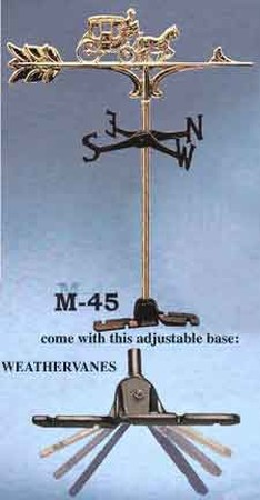 Weather Vane Recreated Brass Top Carriage Weather Vane (M-45)