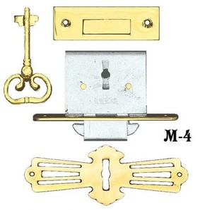 Recreated Roll Top Desk Lock Set (M-4)