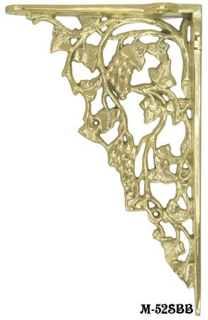 Grape-and-Leaf-Design-Large-Shelf-Bracket---Choice-of-Metal-and-Finish-(M-52SBB)
