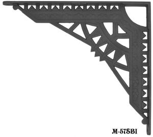 Matte Black Cast Iron Giant Eastlake Shelf Bracket (M-57SBI)