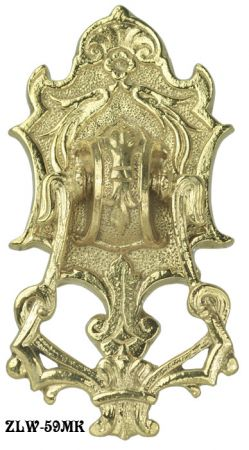 Antique-Recreated-Ornate-Brass-Victorian-Door-Knocker-(M-59MK)